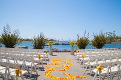 Sunset Terrace waterfront wedding venue in San Diego at Paradise Point Resort & Spa. #WeddingVenues