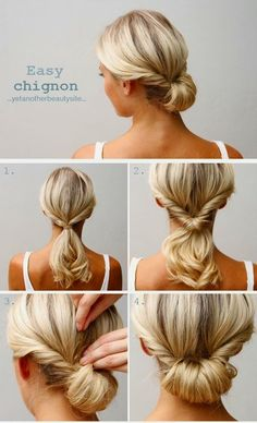The hairdo wore to the premiere of - Easy Chignon Hair Tutorial Updo Hairstyles Tutorials, Hairstyle Ideas, Quick Hairstyles, Braided Hairstyles, Office Hairstyles, Simple Hairstyles For Medium Hair, Easy Professional Hairstyles, Updos For Medium Length Hair Tutorial, Simple Hair Updos