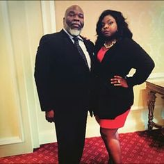 Cora Jakes Coleman and her Dad Bishop T. D. Jakes.