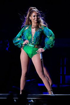 Jennifer Lopez Steals The Spotlight In A See-Through Cutout Dress