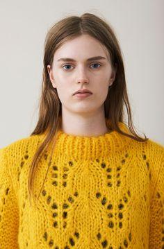 The Julliard Mohair Pullover, Lemon