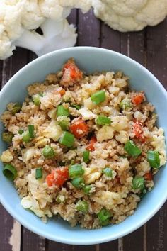 I LOVE fried rice, and often make my own fried rice at home with brown rice which is delicious. But sometimes when I want to cut down on my carbs, I opt for cauliflower rice.