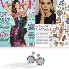 BRUMANI at Vogue Mexico! #brumani #vogue #mexico #brazil #brasil #earring #trend #aquamarine #ruby #browndiamond #diamond #tourmaline #glamour #fresh #blue #baobab #instajewel #instafashion #lookoftheday #musthave #fashion #luxury #jewelry #jewel #chic #instadaily #magazine #voguemexico