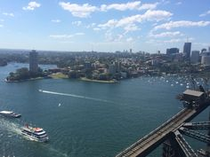 Climb over Sydney Harbour Bridge, Sydney Australia  - 16/01/15 #SydneyHarbourBridge #BridgeClimb #Sydney #Australia #Boats #backpackers #backpacking #adventure #gapyear #travel #Exploring #Sea #Ocean #Beach #BeachLife #CBD #DawesPoint #ScenicLookout