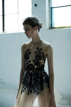 Floral dress with stunning sheer detail