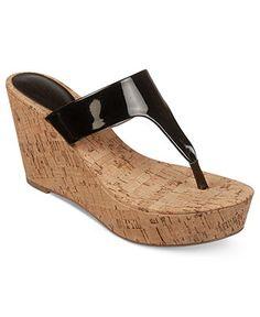 Carlos by Carlos Santana Shoes, Siren Platform Wedge Thong Sandals - Carlos Santana - Shoes - Macy's