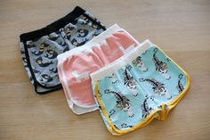 Petrol and Mint City Gym Shorts - free pdf sewing pattern by pur soho for girls and women