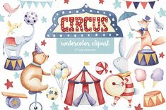 Circus animals watercolor clipart FreeGraphicSource You saved to Draw Illustration Elements 2 Kurohana - Vintage Painted Flowers Watercolor Clipart, Watercolor Animals, Watercolor And Ink, Watercolor Paintings, Circus Illustration, Pencil Illustration, Graphic Illustration, Clipart Baby, Monocycle
