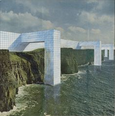 SuperStudio | The Continuous Monument: On the Rocky Coast | 1969