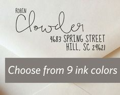Staggered Calligraphy Address Stamp // Custom by ladybugnotes