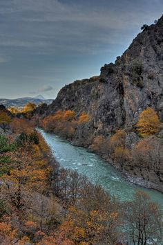 Aoos Gorge, in Konitsa, Epirus, Greece Nature Scenes, Greece Travel, Tourism, Travel Photography, National Parks, Scenery, Places To Visit, Around The Worlds, Adventure