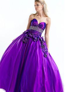Bright-Coloured Sweetheart Beads Working Flower Ball Gown Organza Satin Floor Length Prom Dress