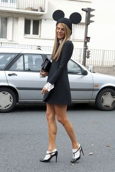 Anna Dello Russo is a member of the Mickey Mouse club. #PFW
