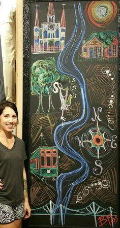 Chalk Art at Lululemon Athletica by Becky Fos