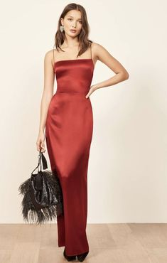 Evening Gowns Formal Dresses for Women Beautiful Ball Gowns – Dresses Ideas Slep Dress, Red Satin Prom Dress, Red Silk Dress, Long Satin Dress, Fancy Dress, Silk Formal Dress, Satin Dresses, Satin Gown, Classy Red Dress