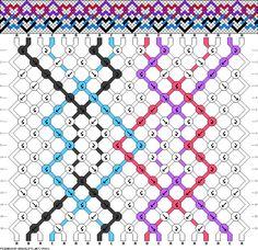 Friendship bracelet - pattern 35931 - 20 strings 5 colours - multi hearts new