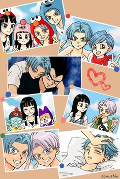 trunks and mai Vegeta And Trunks, Trunks And Mai, Vegeta And Bulma, Dragon Ball Z, Anime Dad, Anime Manga, Super Trunks, Son Goku, Too Funny