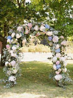 Set of 10 Silk Hydrangea Flowers Arch Wedding decor Floral Wedding decorations Flower Wedding center