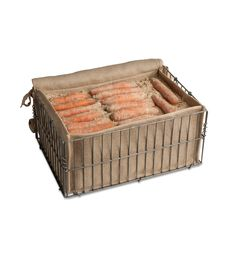 Root Storage Bin. Root veggies like carrots and beets stay fresh all winter and even grow sweeter in this storage bin. Just fill with damp sand or sawdust, alternating with layers of veggies. can also house potatoes, turnips, and squash $34.95