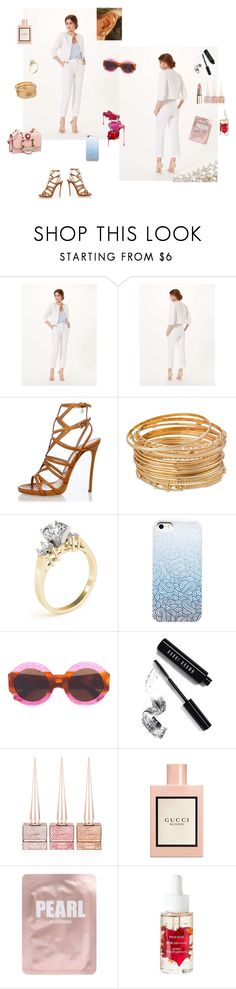 """""""Brunch time"""" by the-designerduchess ❤ liked on Polyvore featuring Miss Selfridge, Dsquared2, Gucci, Bobbi Brown Cosmetics, Christian Louboutin and Lapcos"""