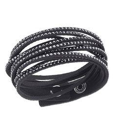 6121bbcf58477 Swavorski slake black bracelet.  ) Available at Dillards.com  Dillards  Bijuterias