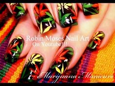 Rasta Marijuana Manicure Nail Art Tutorial | DIY Pot Nails