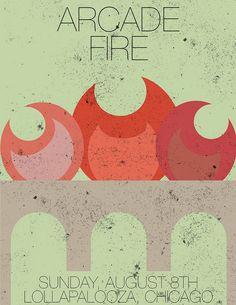 Arcade Fire concert poster