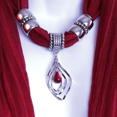 Scarves With Pendants Jewelry Scarves by RavensNestScarfJewel, $23.00