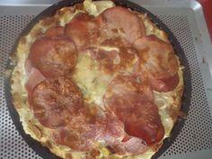 quiche pommes de terre,rosette,poireau,bacon fumé sauce au roquefort sans fond