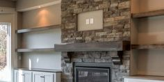 Get the design tips to make your fireplace cozy and inviting. From detailed stonework to stunning ma Modern Fireplace, Brick Fireplace, Fireplace Design, Furniture For You, Cool Furniture, Furniture Design, Family Wall, Family Room Design, Decorate Your Room