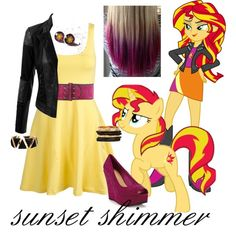 sunset shimmer outfit - Google Search