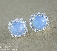 Blue opal crystal earringsBlue opal earringSwarovski