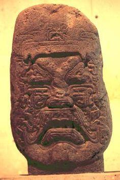 olmec heads | An unusual Olmec stone head on display in the Jalapa museum.