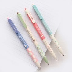 Forest Story Pen 0.5mm Blue Ink • Retractable Ballpoint Pen
