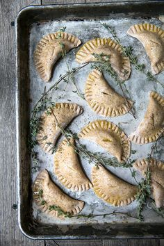 mini pumpkin empanadas | vegan spelt crust  - what's cooking good looking