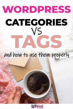 WordPress categories and tags. A WordPress tutorial on how to use them properly for your blog. #bloggingtips #bloggingforbeginners #wordpress #wordpresstips #wordpresstutorials Learn Wordpress, Wordpress Admin, Make Blog, How To Start A Blog, Healthy Breakfast Recipes, Lunch Recipes, Vegetarian Lunch, Food Categories, Blogging