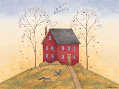 One of my favorite Debbie Mumm drawings.  Reminds me of City on a Hill.
