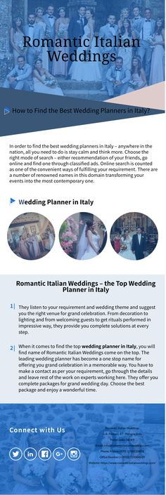 In order to find the best wedding planners in Italy – anywhere in the nation, all you need to do is stay calm and think more.