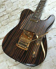 Fraser Guitar - Zebrano #Telecaster #Guitar