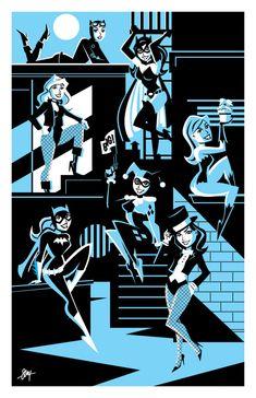 Gotham Girls Print by calslayton.deviantart.com