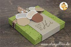 stampinup stempeltier acorny thanks yogurette verpackung anleitung EPB envelope punch board umschlag falzbrett kraft savanne herbst fall autumn eichel how to 03