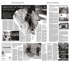 Drilling at 22,000 Miles Above Sea Level Epoch Times #newspaper #editorialdesign