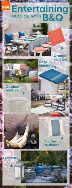 B&Q's NEW and stylish outdoor decor collection is sure to get the neighbours talking. From early bird breakfasts to late night suppers, make the most of your garden this summer by dining al fresco with our Rural Collection. Outdoor Fun, Outdoor Spaces, Outdoor Living, Outdoor Decor, Back Gardens, Outdoor Gardens, Garden Living, Bbq Party, Gardens