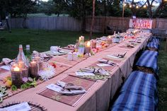 @Carrie Costigliolo  hoedown table scape