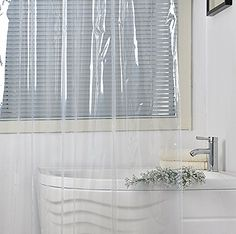 Ufriday Waterproof PEVA Shower Curtain Liner MildewResistant And Heavy Duty  For HomeHotel Crystal Clear Bathroom Curtain