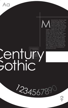 Century Gothic Type Poster by ~lpedreros on deviantART