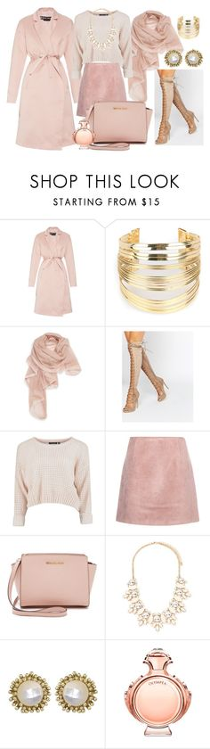 ALL Winter Pink by irina-mologoko on Polyvore featuring Rochas, Acne Studios, Daisy Street, MICHAEL Michael Kors, Kendra Scott, WithChic, Forever 21, La Fiorentina, Paco Rabanne and women's clothing