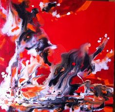 Life on mars - the red planet by sue bannister | Mixed medium on stretched canvas | Abstract Fantasy Landscape Nature Nude | $550 | Bluethumb - Online Art Gallery