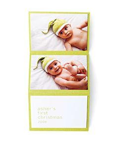 cute diy Christmas card (or birth announcement)