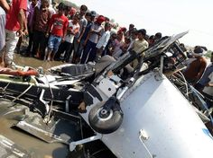 Two persons were killed when a trainer aircraft of a private aviation academy crashed into a river on Maharashtra's border with Madhya Pradesh on Wednesday.